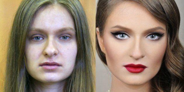 Cambio radical con maquillaje: antes y después de mujeres anónimas con el maquillador ruso Vadim Andreev...