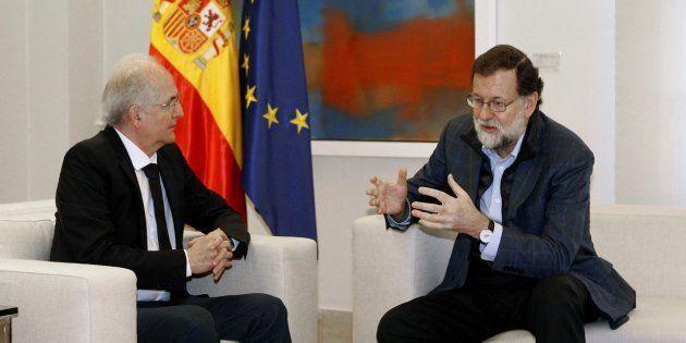 Rajoy recibe a Ledezma, el opositor fugado de