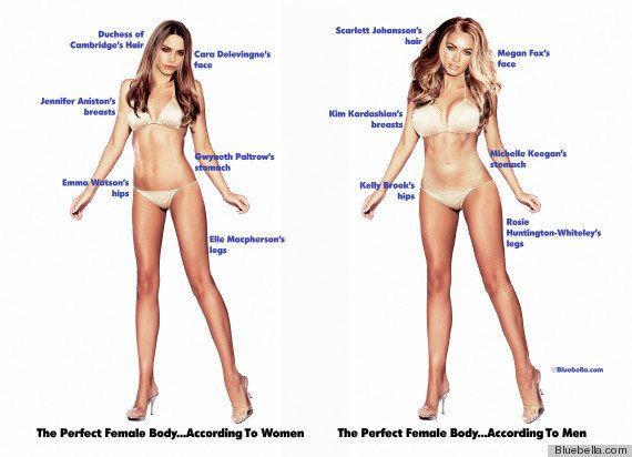 ¿Cómo es el cuerpo perfecto? Hombres y mujeres no se ponen de
