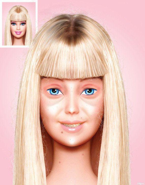 Barbie sin maquillaje: la foto viral de la muñeca