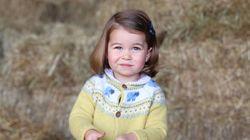 Los duques de Cambridge publican una foto de su hija Carlota, al cumplir dos