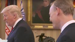 Trump deja con la palabra en la boca a un periodista que le pregunta sobre