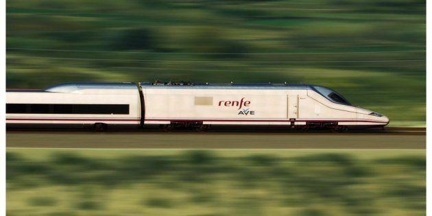 Un tren de los llamados 'pato', empleado por la red de AVE de España, en una imagen de