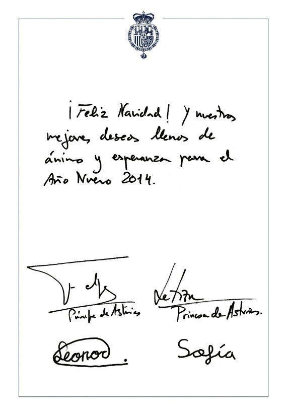 Felicitación Casa Real Navidad 2013: solo reyes, príncipes, infantas y cuadros