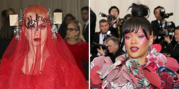 Rihanna o Katy Perry: ¿quién llevó el vestido más loco de la Gala Met
