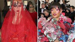 Rihanna o Katy Perry: ¿quién llevó el vestido más loco de la Gala