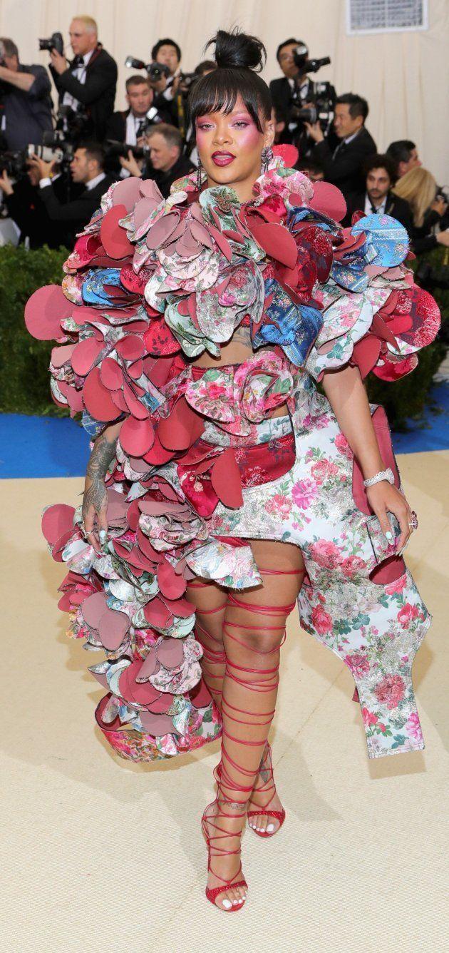 Rihanna llega a la gala