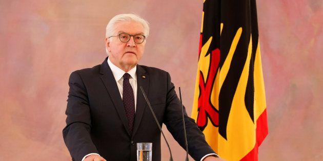 El presidente alemán, Frank-Walter Steinmeier, ofrece una rueda de prensa este lunes tras reunirse con