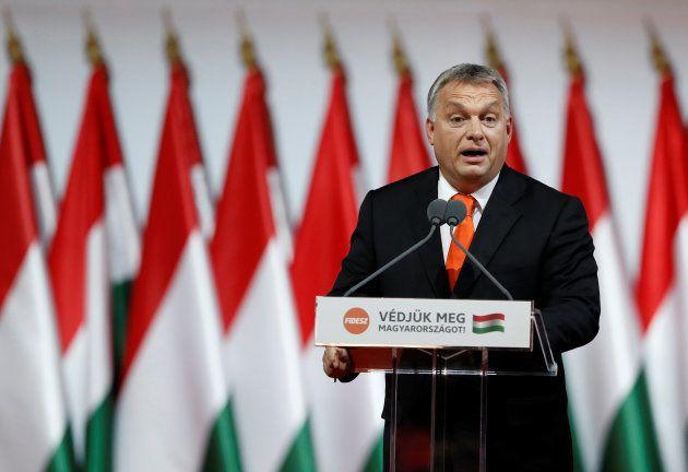 El primer ministro húngaro Viktor Orbán, en un acto de partido celebrado en Budapest el pasado 12 de