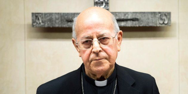 El cardenal, arzobispo de Valladolid y presidente de la Conferencia Episcopal, Ricardo Blázquez, durante...