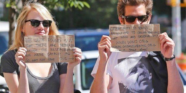 Emma Stone, Andrew Gardfield y su trampa para paparazzi
