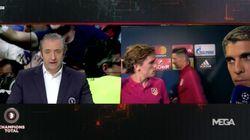 El jefe de prensa del Atleti corta a empujones a Griezmann en plena