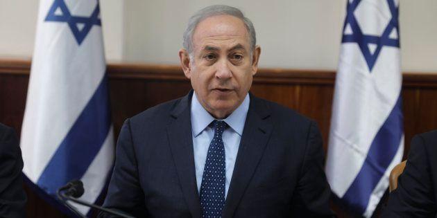 El primer ministro israelí, Benjamin Netanyahu, presidiendo hoy el Consejo de Ministros en