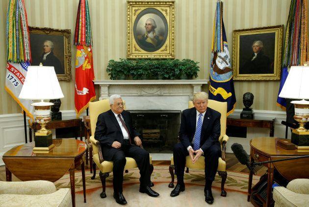 Mahmud Abbas y Donald Trump, en el Despacho