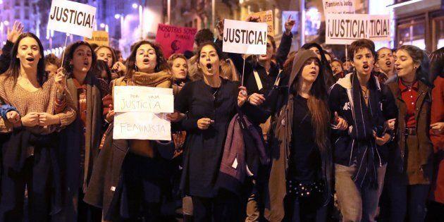 Concentración en Madrid contra