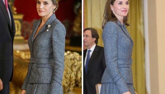 La reina Letizia repite el traje del Día de la Hispanidad: juega a las cinco
