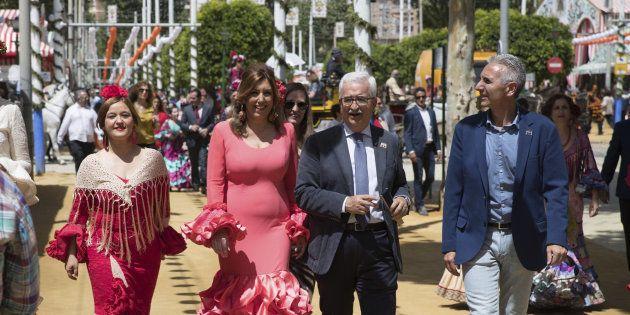 Verónica Pérez, Susana Díaz, Manuel Jiménez Barrios y Miguel Ángel