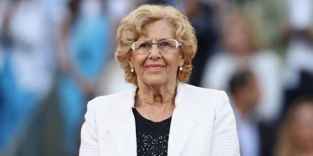 Manuela Carmena, alcaldesa de Madrid, en La Caja Magica. Julian Finney/Getty