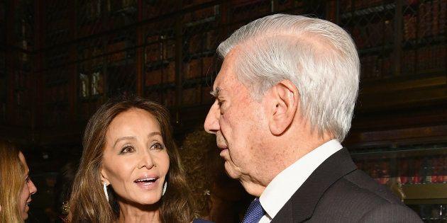 Isabel Preysler y Mario Vargas Llosa en el evento del 13 de noviembre de 2017 en la Morgan Library &...
