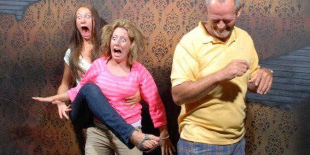 Caras de susto: 65 fotos de reacciones en una casa del terror