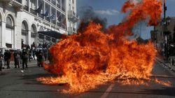 Un muerto en las manifestaciones que colapsan Atenas