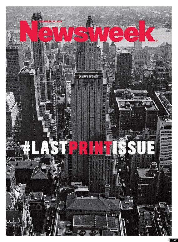 Ésta es la última portada de la revista 'Newsweek', que deja de publicarse en papel
