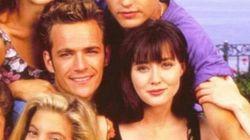 Luke Perry rinde homenaje a Shannen Doherty, su novia en 'Beverly Hills,