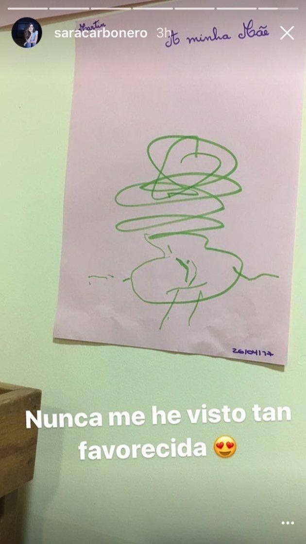 A Sara Carbonero se le cae la baba con este dibujo de su hijo