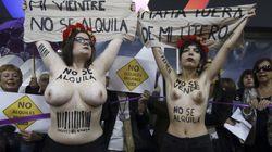 Protesta feminista en Madrid contra la feria de gestación