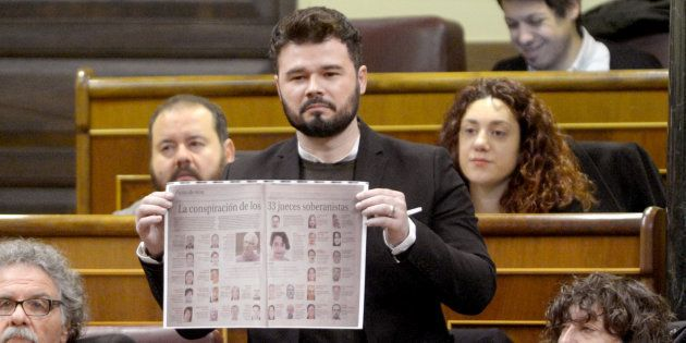 Gabriel Rufián denuncia a Pablo Casado, a Juan Ignacio Zoido y a Xavier García