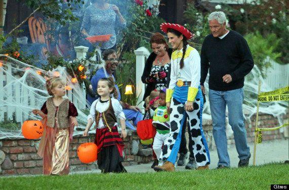 Famosos que han celebrado Halloween con (y como) niños