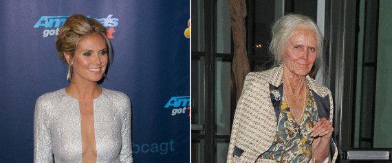 Heidi Klum se disfraza de ella misma con 40 años más en su tradicional fiesta de Halloween