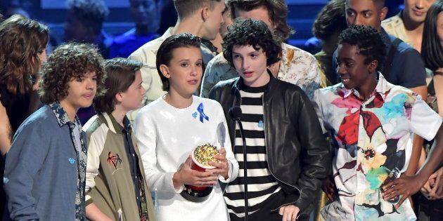 Los protagonistas de la serie 'Stranger Things' en los MTV Movie & TV Awards este