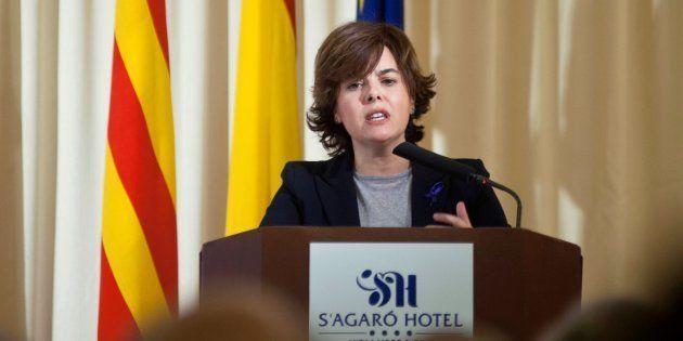 La vicepresidenta del Gobierno, Soraya Sáenzz de Santamaria, durante la inauguración del XXII Encuentro...
