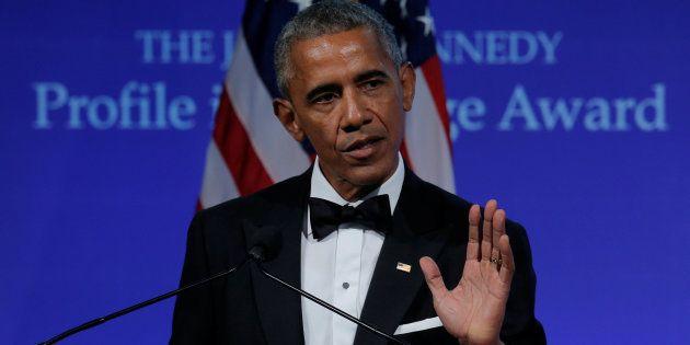 Barack Obama, durante su comparecencia de anoche en