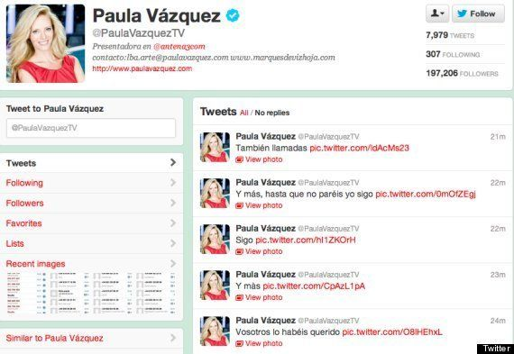 Polémica en Twitter de Paula Vázquez: la presentadora se une a las bromas tras publicar sus datos personales