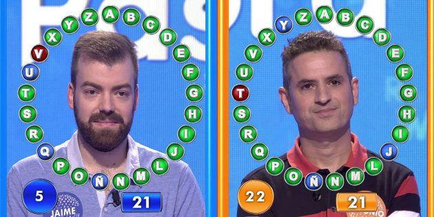 Después de 38 roscos, la lucha entre estos dos concursantes de 'Pasapalabra' ha