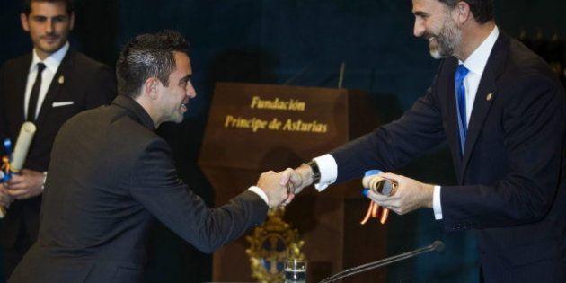 Xavi dona a un programa social los 25.000 euros obtenidos por el Príncipe de Asturias