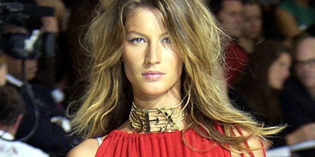 Gisele Bundchen models Dolce & Gabbana Women's Spring 2003 Collection (Photo by