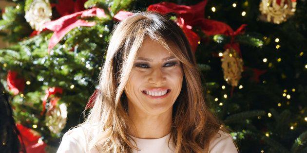 Melania Trump provoca algunas pesadillas con su decoración navideña de la Casa