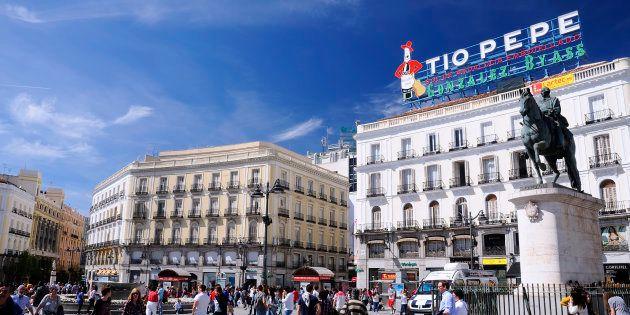 La Puerta del Sol de Madrid, en una imagen de archivo tomada en