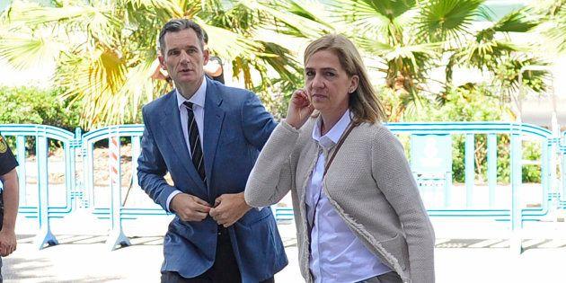 Cristina de Borbón e Inaki Urdangarin, llegando a una de las sesiones del juicio por el caso Nóos, el...