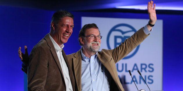 Mariano Rajoy y Xavier Garcia Albiol en un acto del PP en Barcelona. REUTERS/Albert