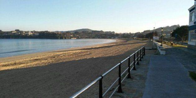 La playa grande de Miño, en A