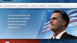 Romney publica por error su web como presidente