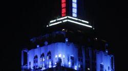 Time-lapse: El Empire State cuenta los votos