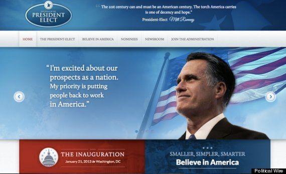 El equipo de Romney publica por error la página web que tenía preparada para ser presidente