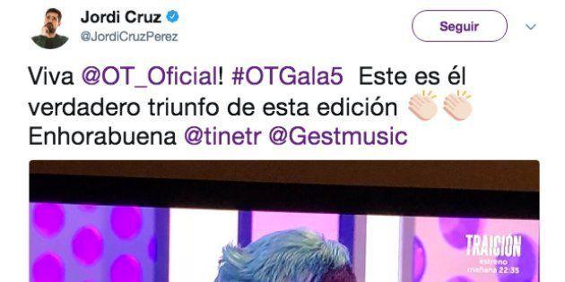 Un tuitero insulta a Jordi Cruz pero se equivoca de Jordi y se convierte en el