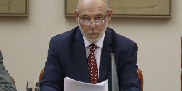 El fiscal general del Estado, José Manuel Maza, comparece ante la Comisión de Justicia del Congreso de...