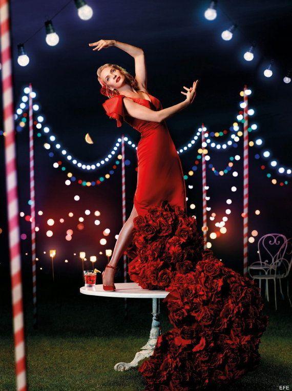 Uma Thurman: calendario Campari vestida de flamenca (FOTOS,